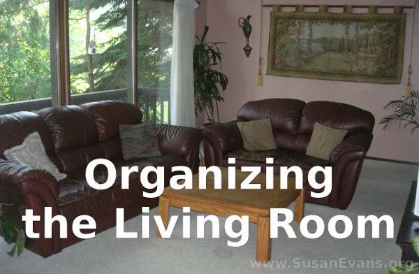 Organizing your living room susan39s homeschool blog for Organizing a living room