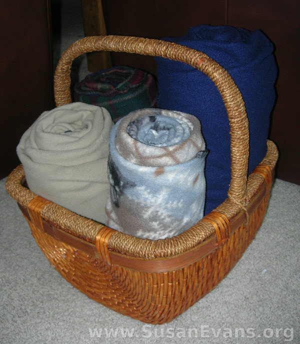 rolled-blankets