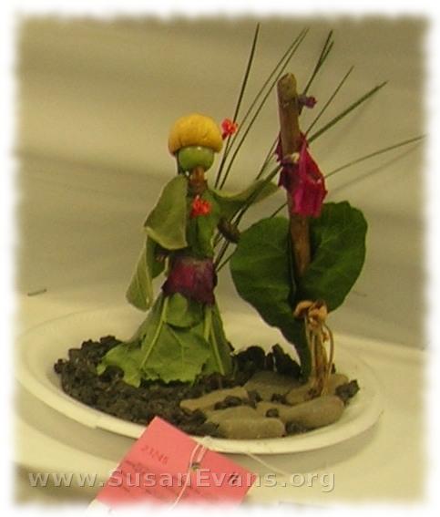 veggie-sculpture
