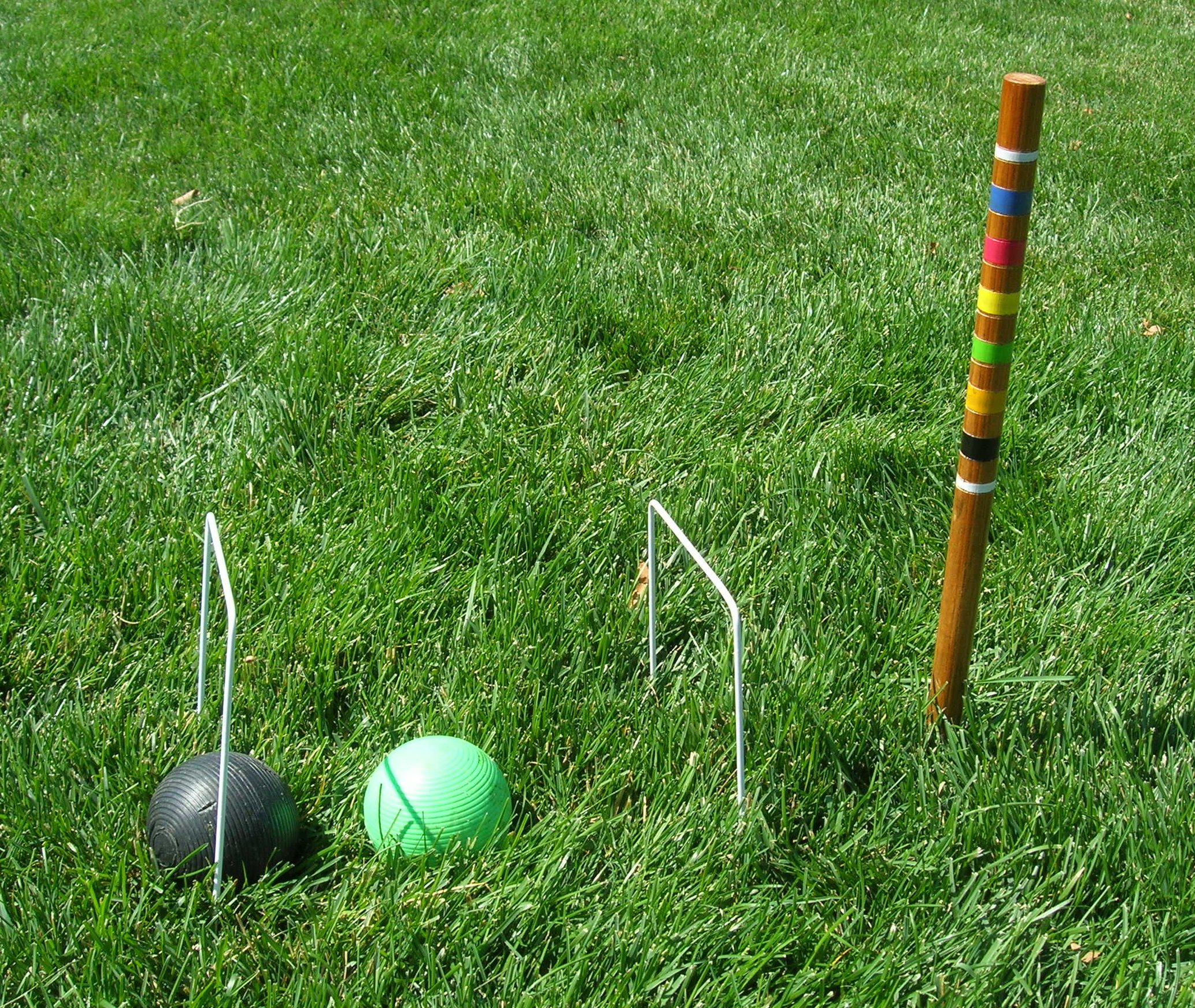 Croquet Game : croquet is a fun game to play especially in the summer it s a lawn ...