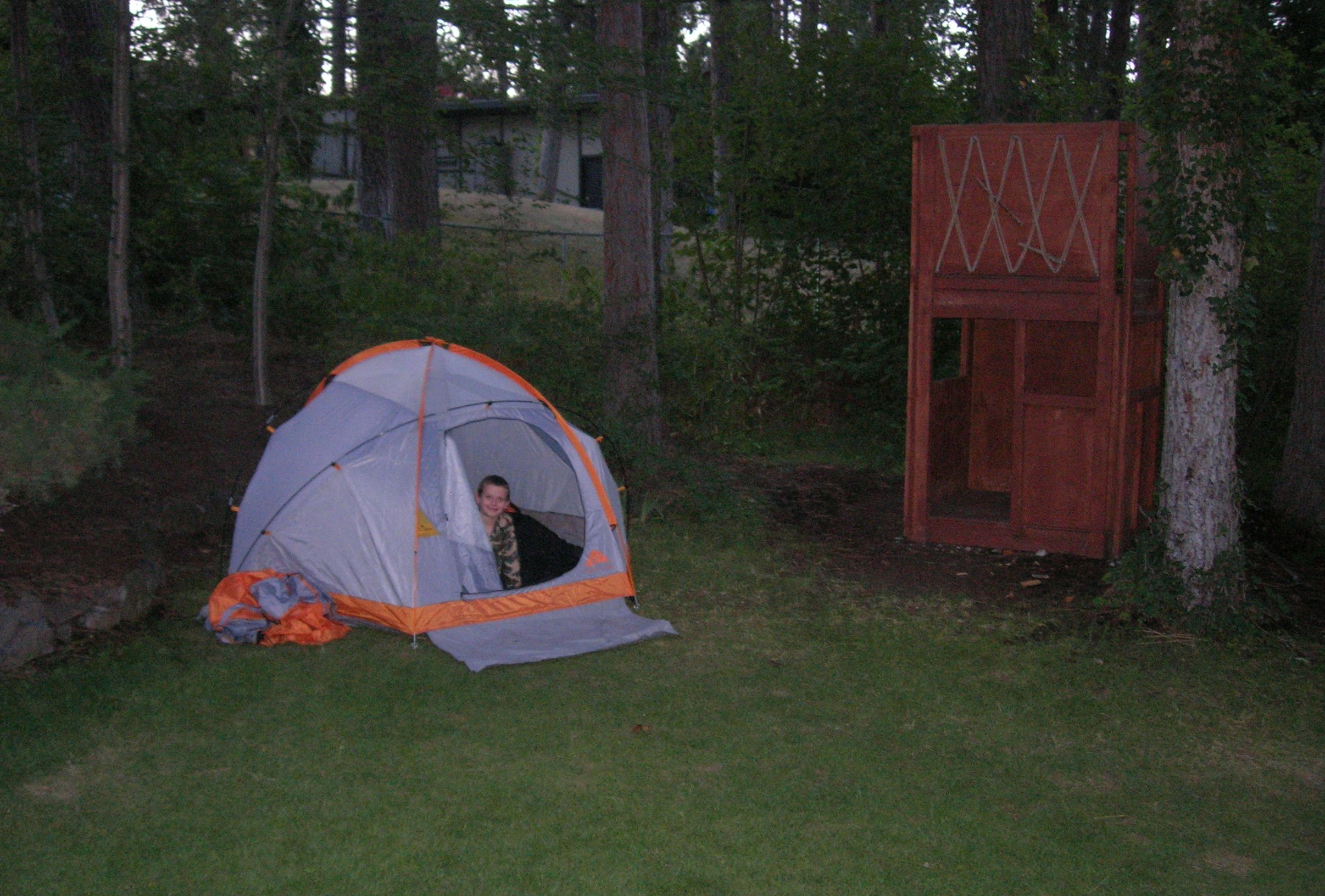 Sleeping In Tent In Backyard : Camping in the Backyard  Susans Homeschool Blog Susans Homeschool