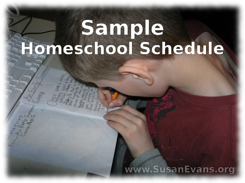 sample-homeschool-schedule