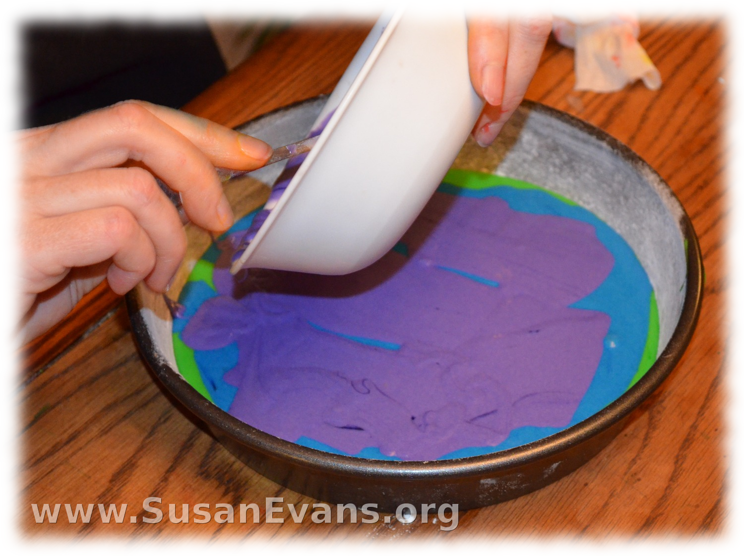 Rainbow Cake - Susan's Homeschool Blog Susan's Homeschool Blog