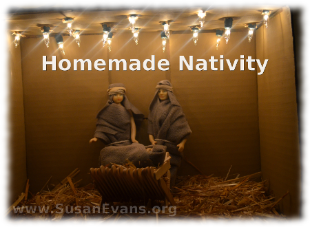 Homemade Nativity Scene Easy Beautiful Susan 39 S