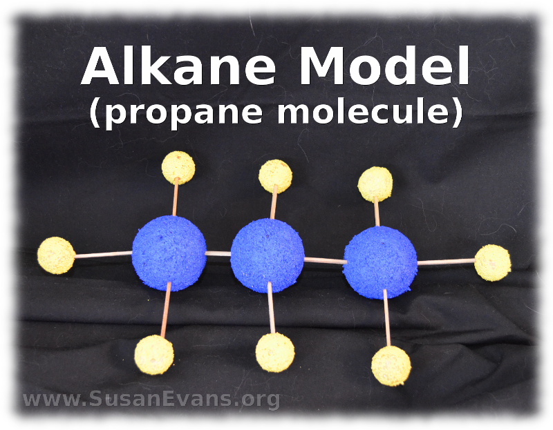 alkane-model-propane