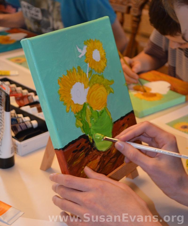 painting-sunflowers